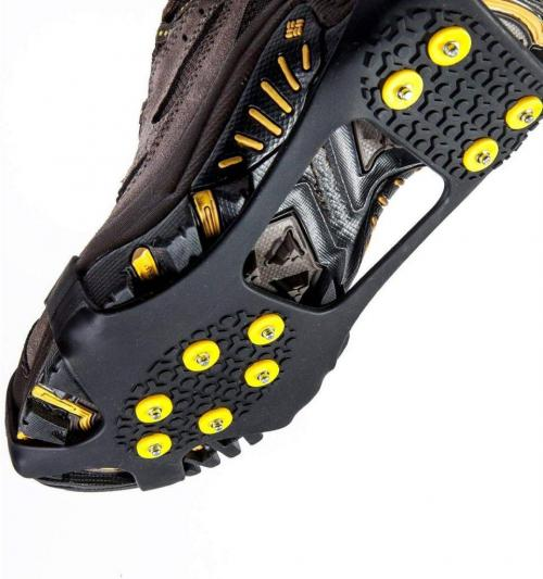 Carryown Ice Cleats, Ice Grips Traction Cleats Grippers Non-Slip Over Shoe
