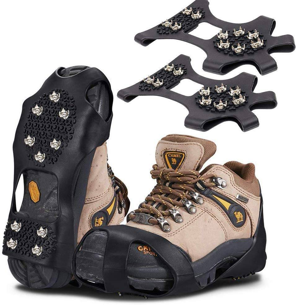 HONYAO Ice Grips Ice Traction Cleats Crampons