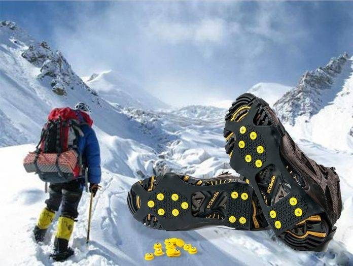 ALPS Ice Snow Grips Traction Cleats Anti Slip Ice Cleats for Shoes