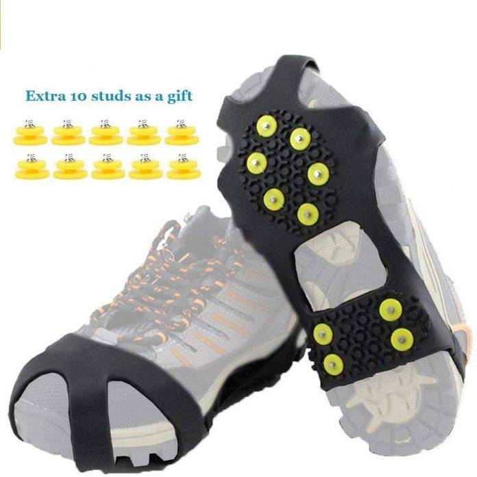 HoFire Ice Cleats Grips Traction Grippers Non-Slip Over Shoe