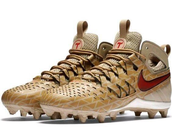 Nike New Huarache V Lacrosse Elite Cleats Khaki