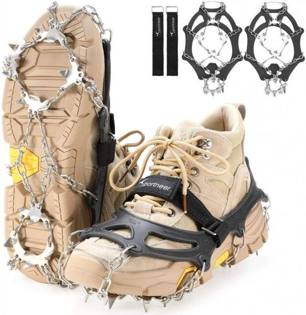Sportneer Ice Traction Cleats – Solid Grip on Ice and Snow